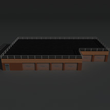 Low Poly Factory Building 15 - Extended Licence image 1