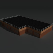 Low Poly Factory Building 15 - Extended Licence image 2