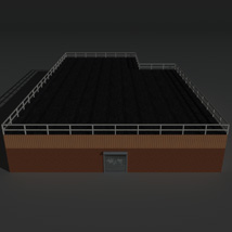 Low Poly Factory Building 15 - Extended Licence image 7