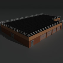 Low Poly Factory Building 15 - Extended Licence image 8