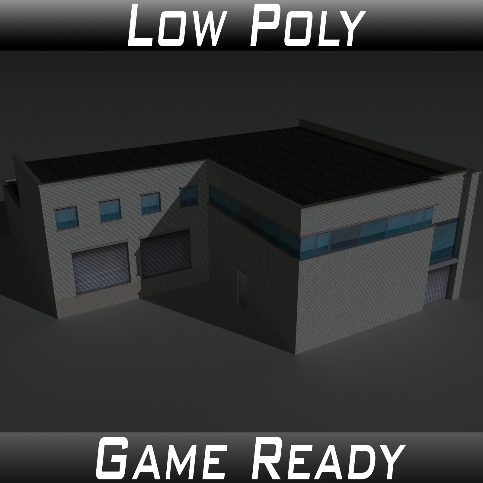 Low Poly Factory Building 16 - Extended Licence
