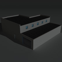 Low Poly Factory Building 16 - Extended Licence image 4