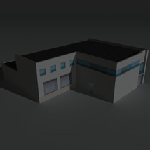 Low Poly Factory Building 16 - Extended Licence image 8