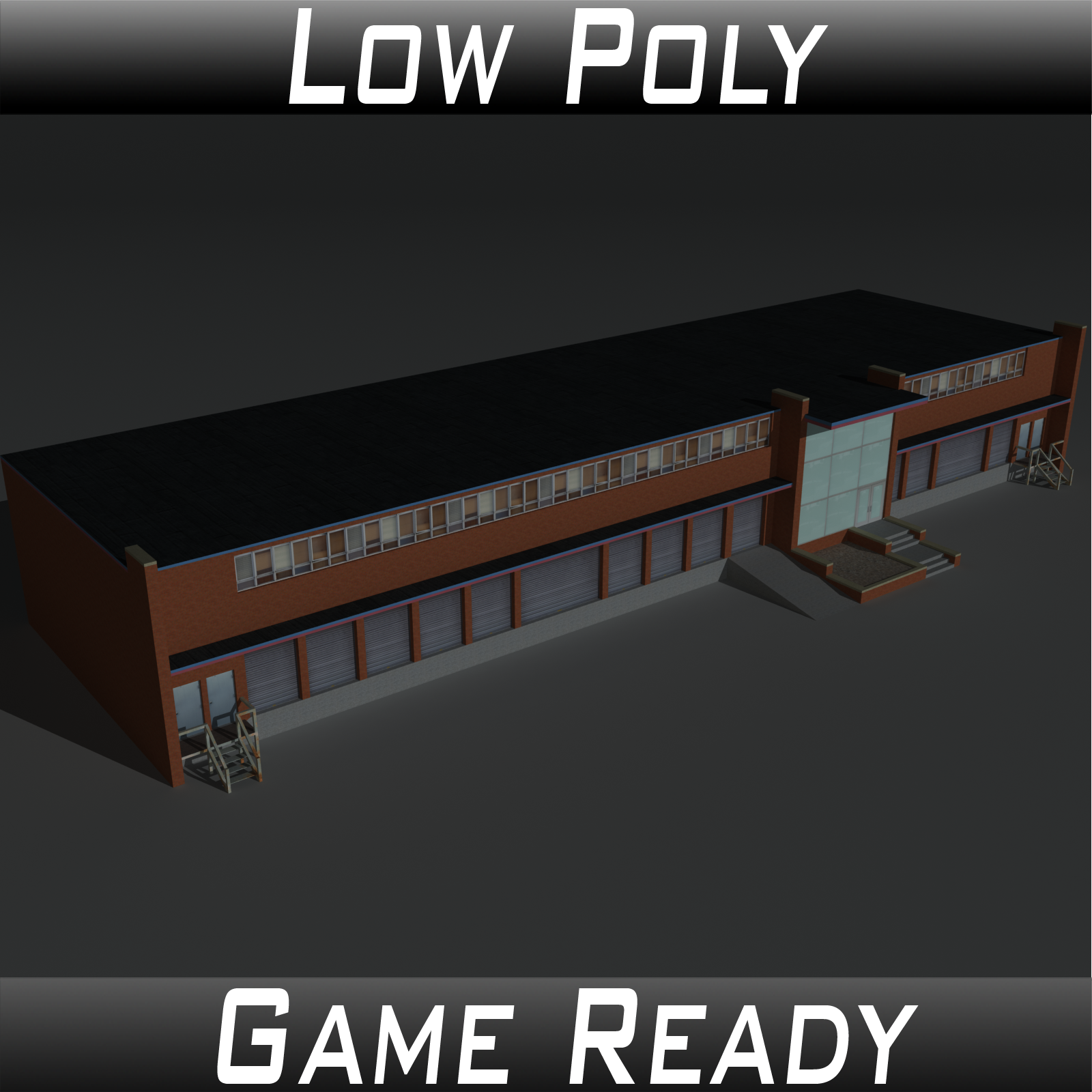Low Poly Factory Building 17 - Extended Licence