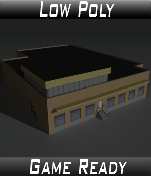 Low Poly Factory Building 18 - Extended Licence 3D Models Extended Licenses 3dlands