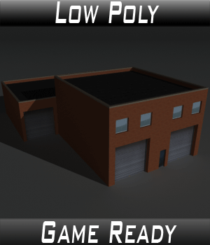 Low Poly Factory Building 19 - Extended Licence 3D Models Extended Licenses 3dlands