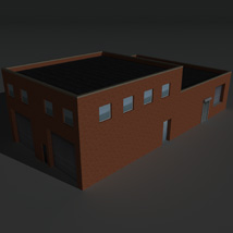 Low Poly Factory Building 19 - Extended Licence image 2