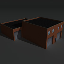 Low Poly Factory Building 19 - Extended Licence image 8