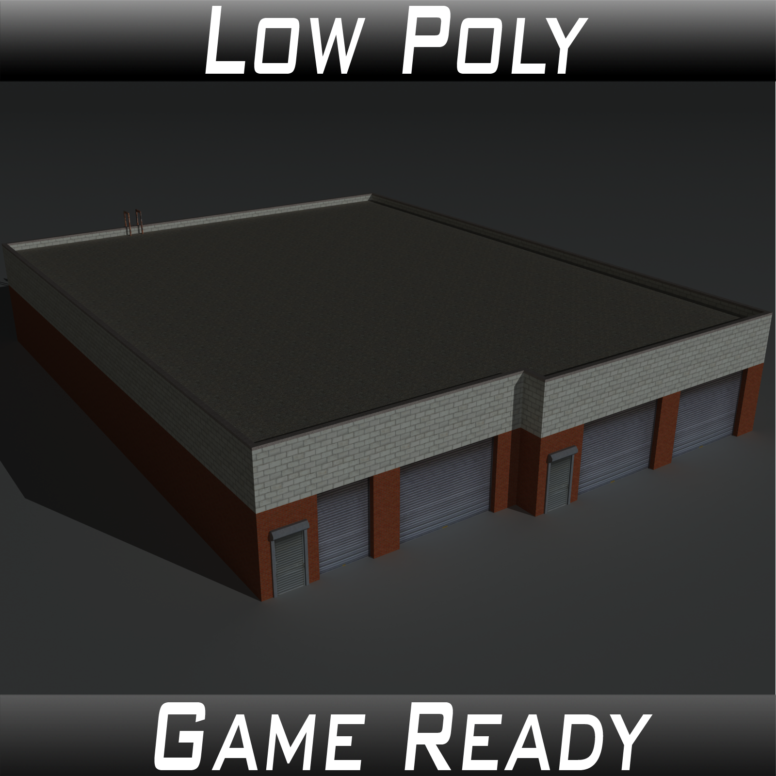Low Poly Factory Building 20 - Extended Licence by 3dlands