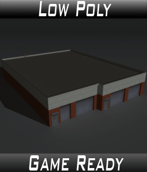 Low Poly Factory Building 20 - Extended Licence 3D Models Extended Licenses 3dlands