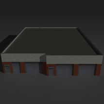 Low Poly Factory Building 20 - Extended Licence image 1