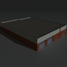 Low Poly Factory Building 20 - Extended Licence image 4