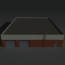Low Poly Factory Building 20 - Extended Licence image 5