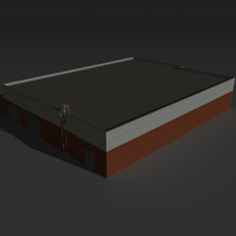 Low Poly Factory Building 20 - Extended Licence image 6