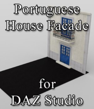 Portuguese House Facade - for DAZ Studio  3D Models VanishingPoint