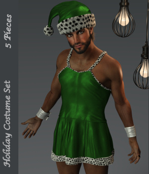 Holiday Dress for Genesis 8 Males 3D Figure Assets Karth