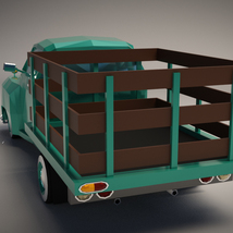 Low-Poly Cartoon Vintage Pickup - Extended License image 2