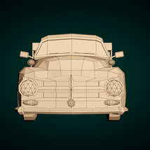 Low-Poly Cartoon Vintage Pickup - Extended License image 8