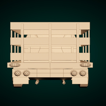 Low-Poly Cartoon Vintage Pickup - Extended License image 10