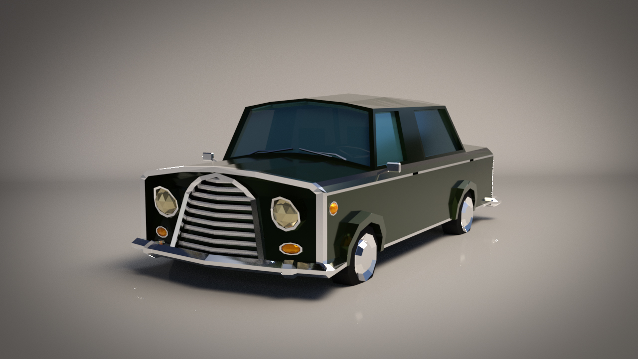 Low-Poly Cartoon Limousine Car - Extended License