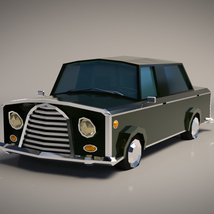 Low-Poly Cartoon Limousine Car - Extended License image 1
