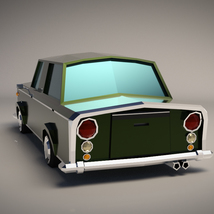 Low-Poly Cartoon Limousine Car - Extended License image 2