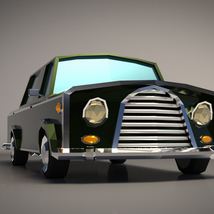 Low-Poly Cartoon Limousine Car - Extended License image 5