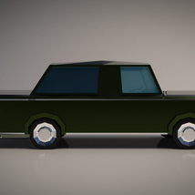 Low-Poly Cartoon Limousine Car - Extended License image 6