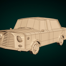 Low-Poly Cartoon Limousine Car - Extended License image 7
