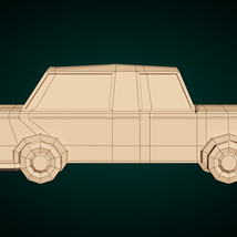 Low-Poly Cartoon Limousine Car - Extended License image 9