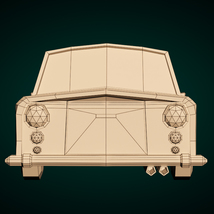Low-Poly Cartoon Limousine Car - Extended License image 10