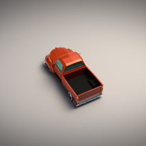 Low-Poly Cartoon Vintage Pickup - Extended License  image 3