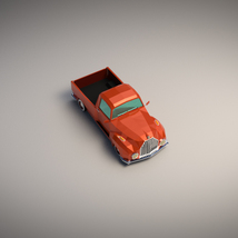 Low-Poly Cartoon Vintage Pickup - Extended License  image 4