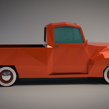 Low-Poly Cartoon Vintage Pickup - Extended License  image 6