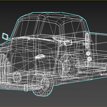 Low-Poly Cartoon Vintage Pickup - Extended License  image 12