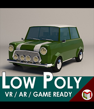 Low-Poly Cartoon City Car - Extended License  3D Game Models : OBJ : FBX 3D Models Extended Licenses LinderMedia