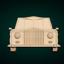 Low-Poly Cartoon Limousine Car - Extended License  image 8