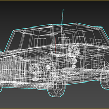 Low-Poly Cartoon Limousine Car - Extended License  image 12