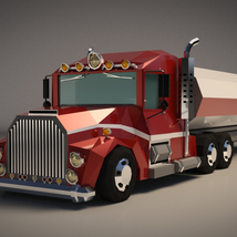 Low-Poly Cartoon Tank Truck - Extended License  image 1