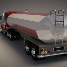 Low-Poly Cartoon Tank Truck - Extended License  image 2