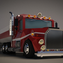 Low-Poly Cartoon Tank Truck - Extended License  image 5
