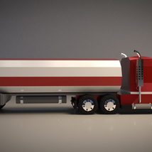 Low-Poly Cartoon Tank Truck - Extended License  image 6