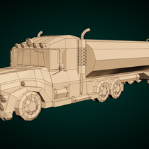 Low-Poly Cartoon Tank Truck - Extended License  image 7
