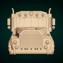 Low-Poly Cartoon Tank Truck - Extended License  image 8