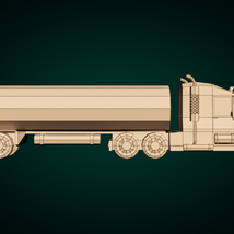 Low-Poly Cartoon Tank Truck - Extended License  image 9