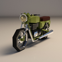 Low-Poly Cartoon Motorcycle - Extended License  image 1