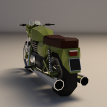 Low-Poly Cartoon Motorcycle - Extended License  image 2