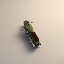 Low-Poly Cartoon Motorcycle - Extended License  image 3