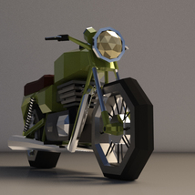 Low-Poly Cartoon Motorcycle - Extended License  image 5