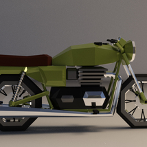 Low-Poly Cartoon Motorcycle - Extended License  image 6